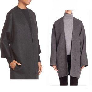 VINCE Sz M Reversible Cashmere Blend Cardigan Coat